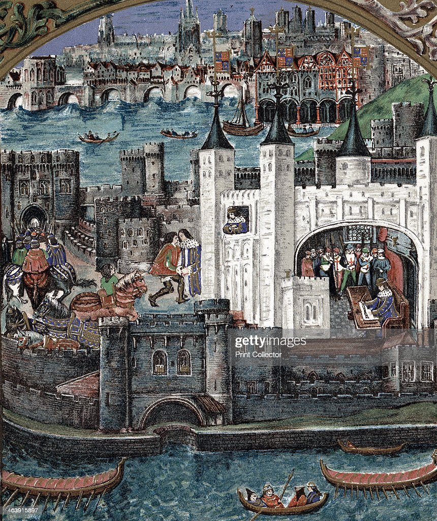 Henry VII at the Tower of London 14851509 Henry the first Tudor monarch is variously shown greeting a guest looking out of a window and signing a...
