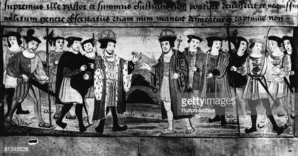 1520 Henry VIII King of England meets Francis I of France near Calais to try and negotiate an alliance at what became known as 'The Field Of The...