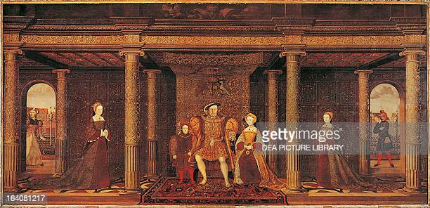 Henry VIII Tudor King of England and King of Ireland with his family London Royal Collection