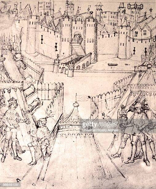 Henry V's siege of Rouen 141819 from the fifteenthcentury The Life and Acts of Richard Beauchamp Earl of Warwick From The Island Race a 20th century...
