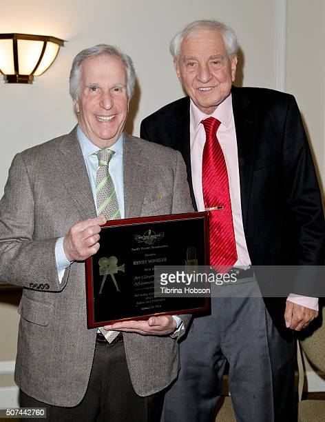 Henry Winkler and Garry Marshall attend the Pacific Pioneer Broadcasters Lifetime Achievement Awards Ceremony for Henry Winkler at Sportsmens Lodge...