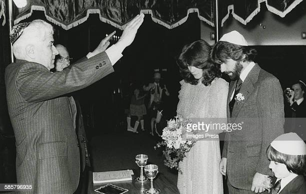 Henry Winkler and Stacey Weitzman gets married circa 1978 in New York City