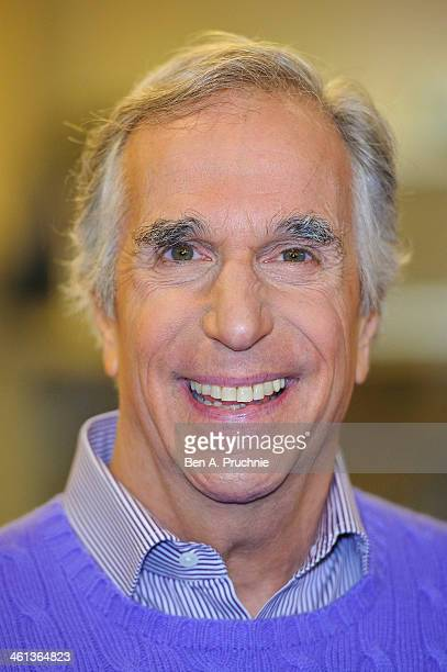 Henry Winkler attends a photocall for new musical 'Happy Days' at Ed's Easy Diner on January 8 2014 in London England