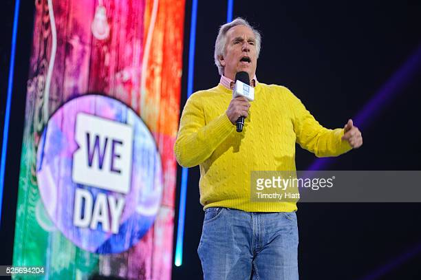 Henry Winkler attends at WeDay in Illinois at Allstate Arena on April 28 2016 in Chicago Illinois