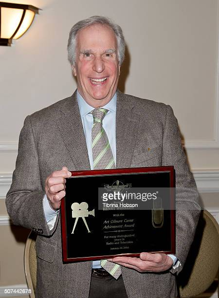 Henry Winkler attends the Pacific Pioneer Broadcasters Lifetime Achievement Awards Ceremony for Henry Winkler at Sportsmens Lodge on January 29 2016...