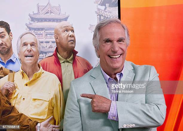 Henry Winkler attends the screening of NBC's 'Better Late Than Never' at Universal Studios Hollywood on July 18 2016 in Universal City California
