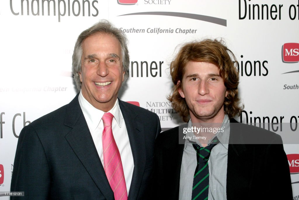 Henry Winkler, Max Winkler during 31st Annual MS Dinner of Champions at Kodak Theatre in Los Angeles, California, United States.