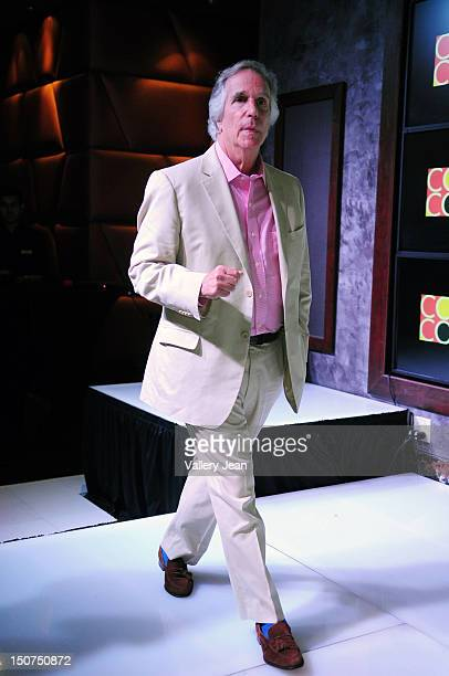 Henry Winkler meets and greets fans and gives away his iconic motorcycle from 'Happy Days' at Seminole Casino Coconut Creek on August 25 2012 in...