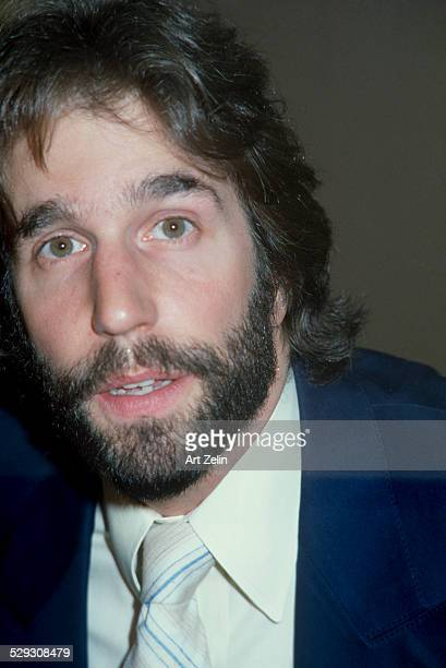 Henry Winkler with a beard closeup circa 1970 New York