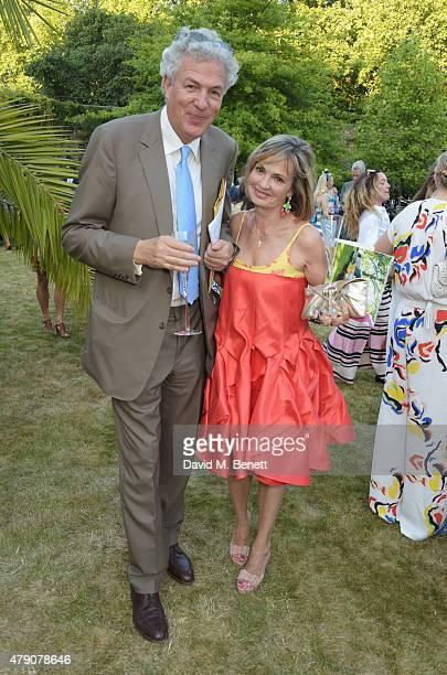 Henry Wyndham and Maya Flick attend the Quintessentially Foundation and Elephant Family's Royal Rickshaw Auction presented by Selfridges at Lancaster...