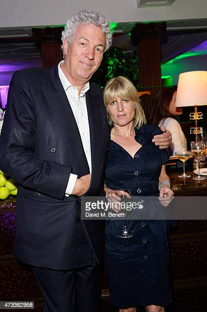 Henry Wyndham and Rachel Johnson attend Brown's Hotel Summer Party at Brown's Hotel on May 14th 2015 in London United Kingdom