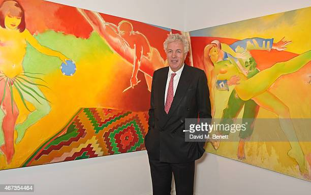 Henry Wyndham Chairman of Sotheby's Europe attends Sotheby's to preview iconic items from The Ivy restaurant that will be going under the hammer on...