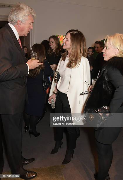 Henry Wyndham Chairman of Sotheby's Europe Trinny Woodall and Amanda Eliasch attend Sotheby's to preview iconic items from The Ivy restaurant that...