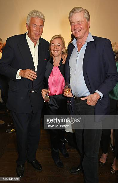 Henry Wyndham Dora Loewenstein and Bunter Worcester attend the launch of Stella Tennant and Isabella Cawdor's collection for Holland Holland at their...