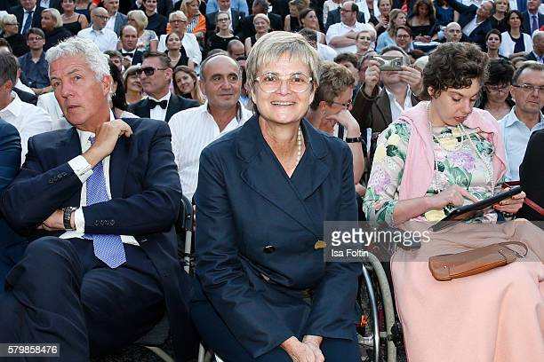 Henry Wyndham Gloria von Thurn und Taxis and Pilar von SchoenburgGlauchau attend the James Bond Soundtrack Night at Thurn Taxis Castle Festival 2016...