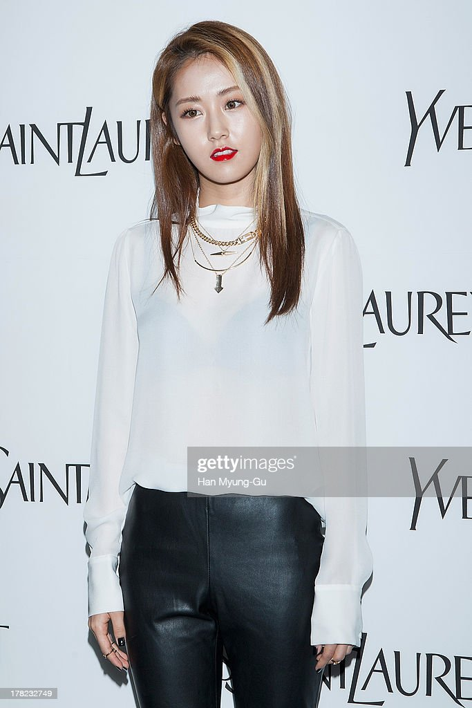 Heo Ga-Yoon (Gayun) of South Korean girl group 4minute attends during the 'Forever Youth Liberator' launch party hosted by Yves Saint Laurent Skin Care at the Cais Gallery on August 27, 2013 in Seoul, South Korea.