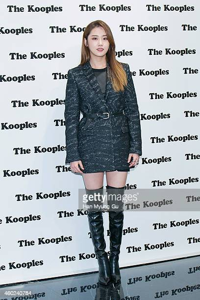 Heo GaYoon of South Korean girl group 4minute attends the photo call for 'The Kooples' at Lotte Department Store Avenuel World Tower Store on...