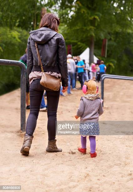 Her daughter's first festival
