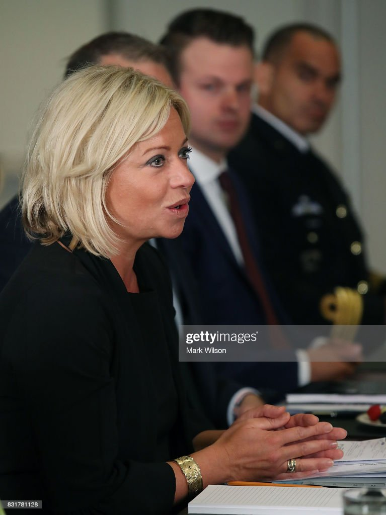 Her Excellency Jeanine Hennis-Plasschaert (L), Minister of Defense of the Netherlands participats in a bilateral meeting with Secretary of Defense Jim Mattis at the Pentagon, on August 15, 2017 in Arlington, Virginia.