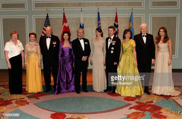 Her Excellency Tarja Halonen President of Finland Their Majesties Queen Sonja of Norway and King Harald V of Norway Their Majesties King Carl XVI...