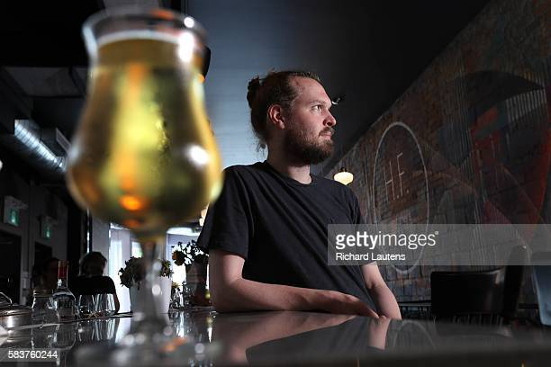 TORONTO ON JULY 8 Her Father's Cider Bar Kitchen with owner Joshua Mott has been open for 5 weeks on Harbord near Spadina Many people come for the...