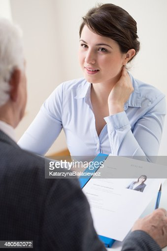 Her first job : Stock Photo