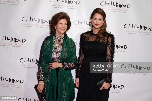 Her Magesty Queen Silvia of Sweden and Her Royal Highness Princess Madeleine of Sweden attend the World Childhood Foundation USA 2017 Thank You Gala...