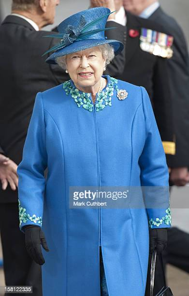 Her Majesty Queen Elizabeth Ii And His Royal Highness The Duke Of Edinburgh Visit Gloucester They Proceeded By Boat To View The Canal Development And...