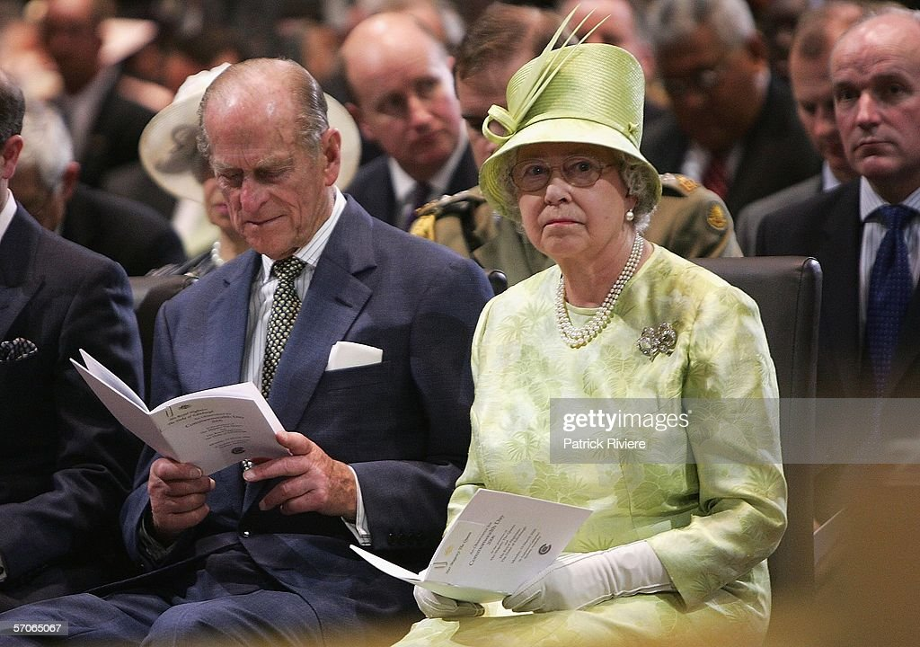 Her Majesty Queen Elizabeth II and His Royal Highness The Duke of Edinburgh attend the Commonwealth Day Service at St Andrew's Cathedral on March 13, 2006 in Sydney, Australia. The Queen and Prince Philip are on a five-day visit to Australia where she will officially open the Commonwealth Games in Melbourne.