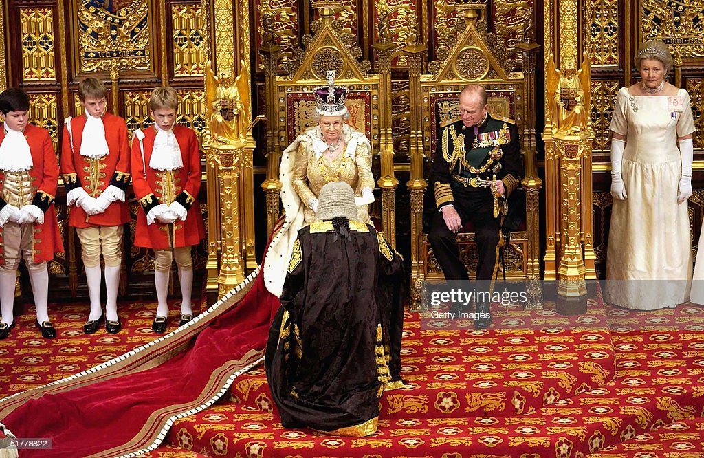 Her Majesty Queen Elizabeth II delivers her annual speech to the House of Commons at the State Opening of Parliament on November 23, 2004 in London, England. The speech delivered amid tradition and ceremony comes in the run-up to the next general election, and sets out the government's agenda for the year ahead.