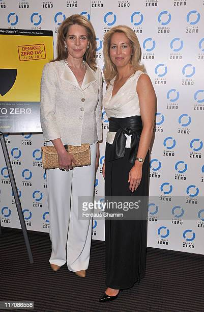 Her Majesty Queen Noor of Jordan and Valerie Plame Wilson attend the gala screening of 'Countdown To Zero' at BAFTA on June 21 2011 in London England