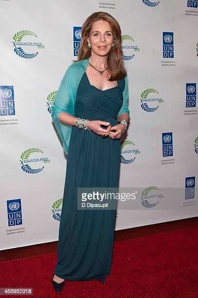 Her Majesty Queen Noor of Jordan attends the United Nations 2014 Equator Prize Gala at Avery Fisher Hall Lincoln Center on September 22 2014 in New...