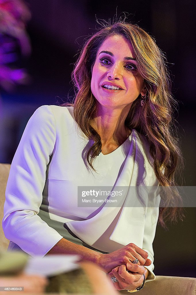Her Majesty Queen Rania Al Abdullah of Jordan attends the 5th Annual Women In The World Summit at David H. Koch Theater, Lincoln Center on April 3, 2014 in New York City.