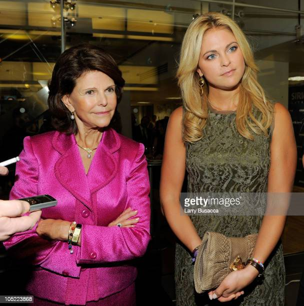 Her Majesty Queen Silvia of Sweden and Her Royal Highness Princess Madeleine of Sweden attend the Launch of The World Childhood Foundation USA...