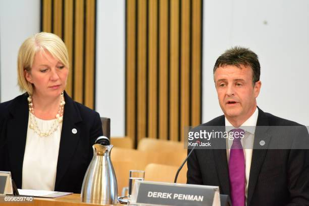 Her Majesty's Inspector of Constabulary in Scotland Derek Penman and Gill Imery Assistant Inspector of Constabulary in Scotland giving evidence to...