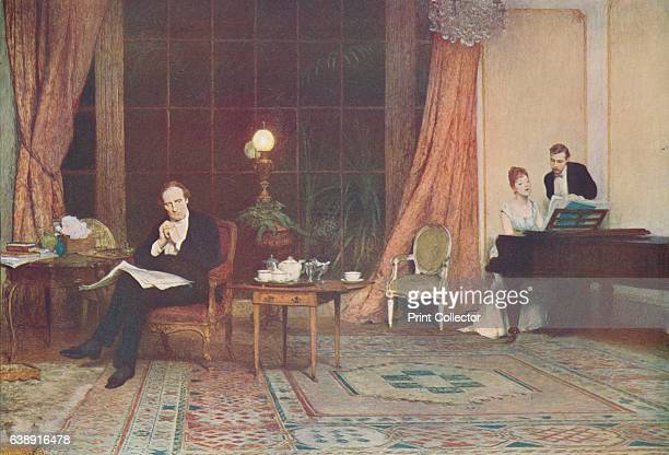 Her Mother's Voice' c1888 Held by the Tate London From Famous Pictures of the World c1900 Artist William Quiller Orchardson