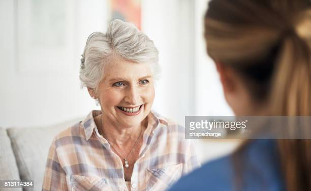 Her nurse always gives her a reason to smile