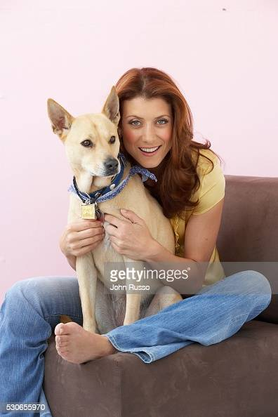 Her rescued dog Lucy is a Basenji mix