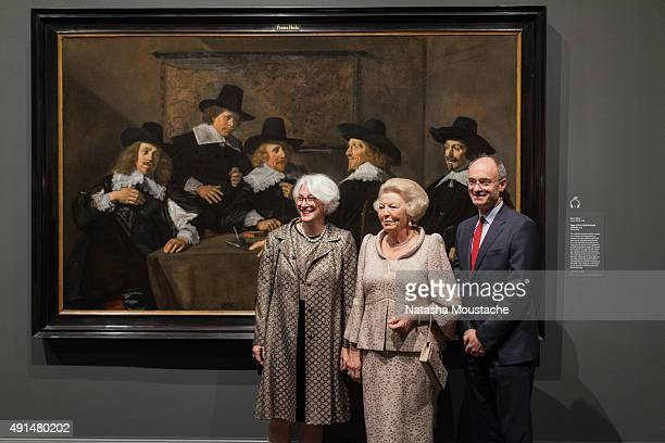 Her Royal Highness Princess Beatrix of the Netherlands Senior Curator Ronni Baer and Director of the Museum of Fine Arts Matthew Teitelbaum view...
