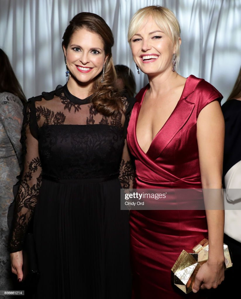Her Royal Highness Princess Madeleine of Sweden (L) and actress Malin Akerman attend the World Childhood Foundation USA 2017 Thank You Gala at Cipriani 25 Broadway on October 2, 2017 in New York City.