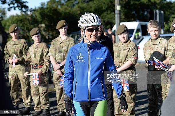 Her Royal Highness Sophie Countess of Wessex meets a group of cadets from The Northumberland Church of England School who have come to wave her off...