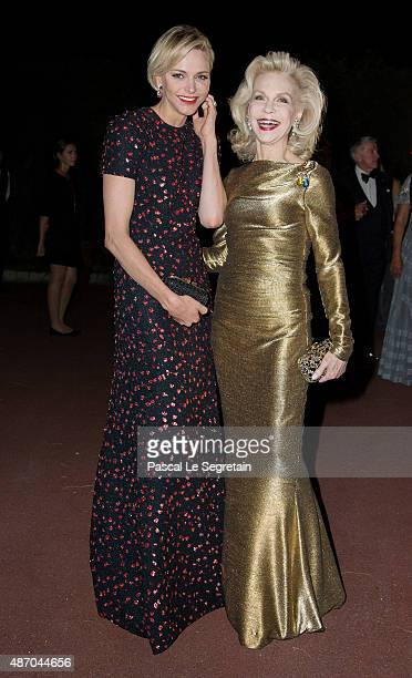 Her Serene Highness Princess Charlene of Monaco and Lynn Wyatt attend the 2015 Princess Grace Awards Gala With Presenting Sponsor Christian Dior...