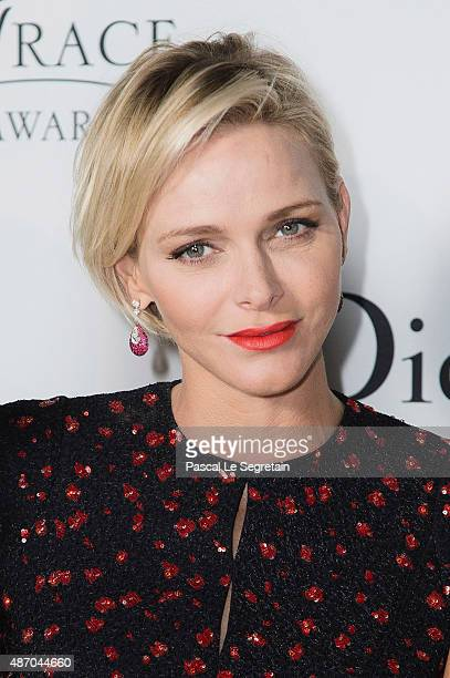 Her Serene Highness Princess Charlene of Monaco attends the 2015 Princess Grace Awards Gala With Presenting Sponsor Christian Dior Couture at Monaco...