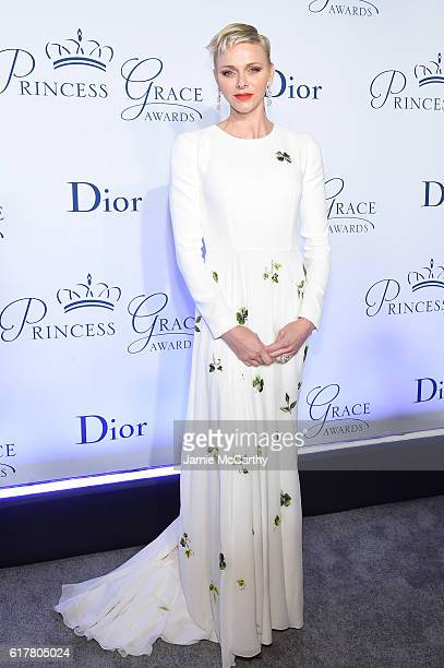 Her Serene Highness Princess Charlene of Monaco attends the 2016 Princess Grace awards gala at Cipriani 25 Broadway on October 24 2016 in New York...