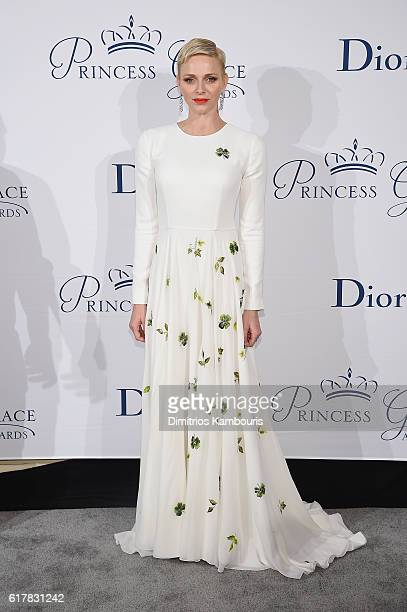 Her Serene Highness Princess Charlene of Monaco attends the 2016 Princess Grace Awards Gala with presenting sponsor Christian Dior Couture at...