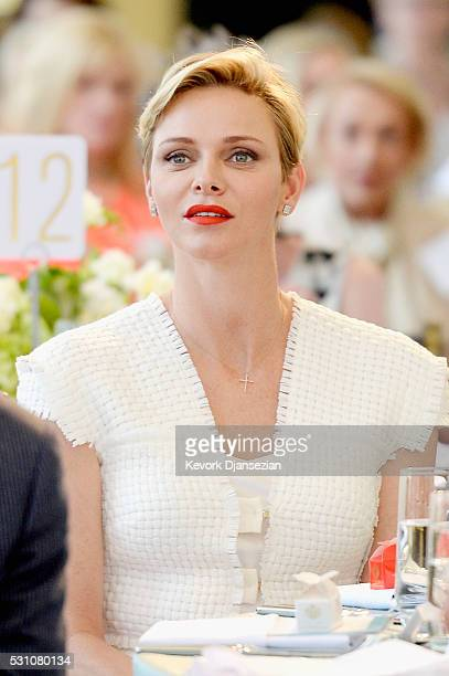 Her Serene Highness Princess Charlene of Monaco attends the Blue Ribbon of the Los Angeles Music Center to honor Princess Charlene of Monaco at Grand...