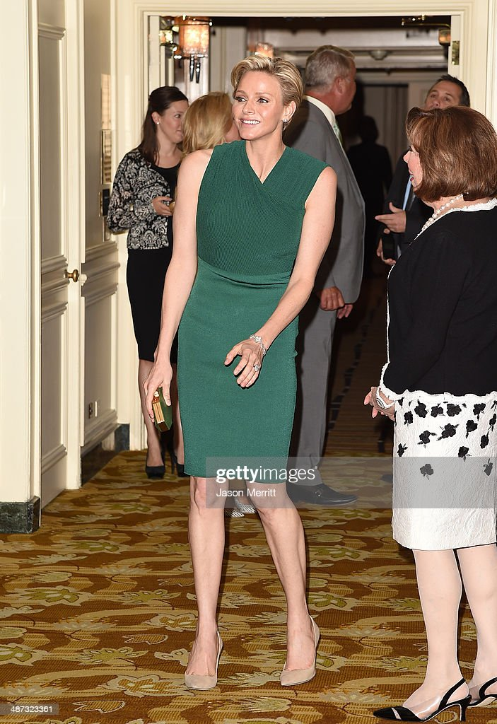 Her serene highness, Princess Charlene of Monaco, is honored with this year's 'Champion of Children' Award at the Colleagues' 26th Annual Spring Luncheon at the Beverly Wilshire Four Seasons Hotel on April 29, 2014 in Beverly Hills, California.