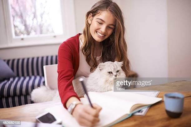 Her study buddy