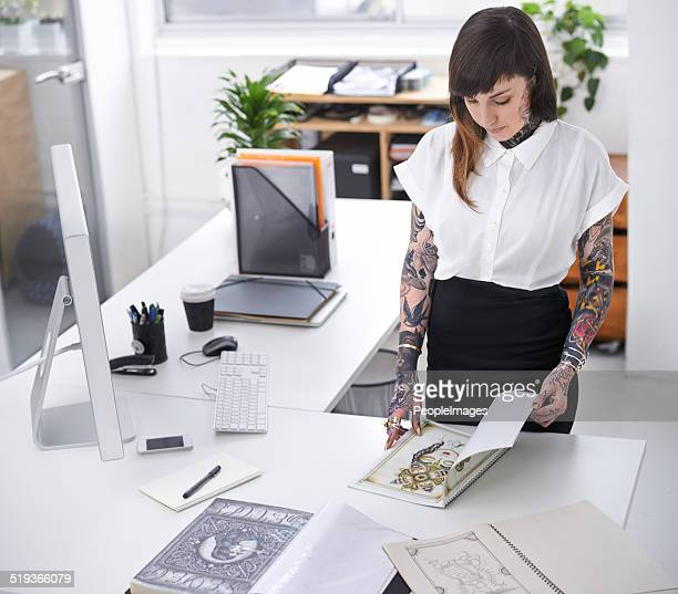 Her tattoo business is flourishing