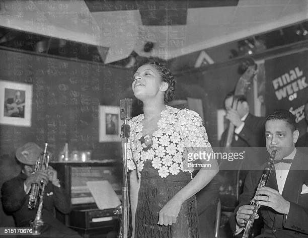 Her torch singing of classics raises burning issue Maxine Sullivan colored torch singer who is called the queen of the 'jam' songstresses is pictured...